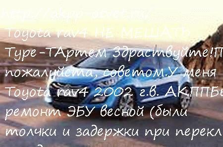 Toyota rav4 НЕ МЕШАТЬ Type-T