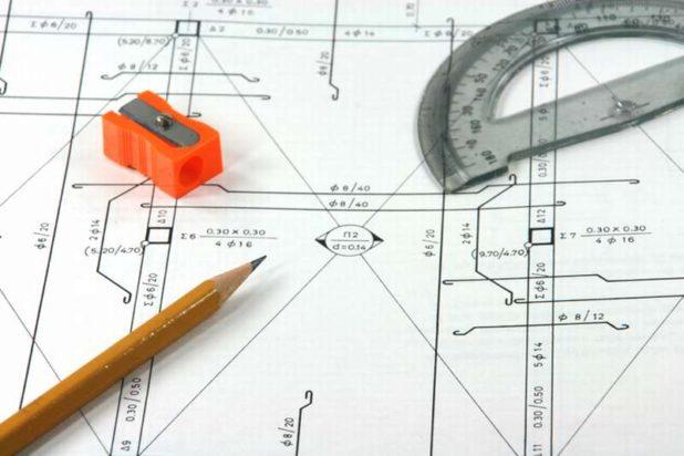Общий чертеж строительного объекта